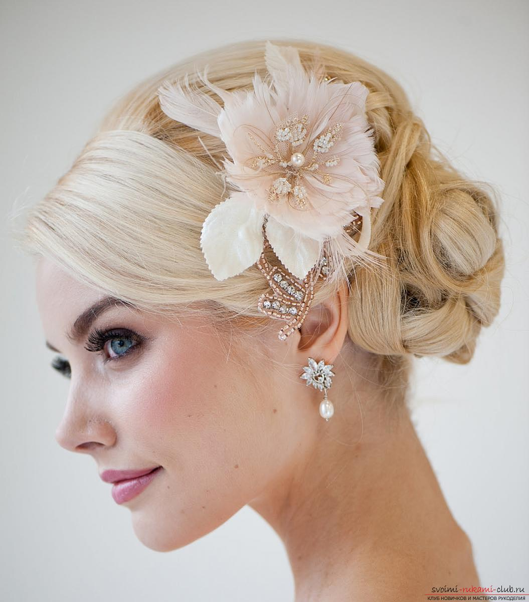 Photo gallery of wedding hairstyles for hair of different length. Photo №4