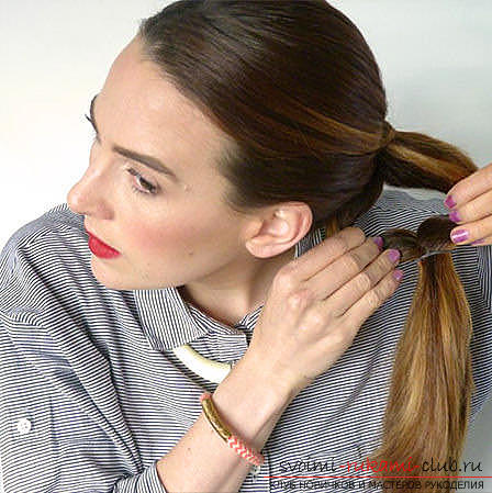 Master classes on creating hair styles for hair of medium length with their own hands. Photo Number 19