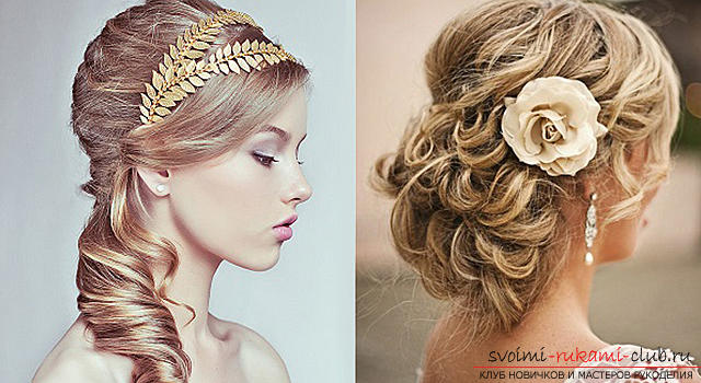 How to make a beautiful hairstyle for curly hair of medium length with your own hands ?. Photo Number 9