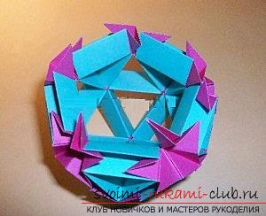 Free master classes on creating modular origami balls, step-by-step photos and description .. Photo # 67