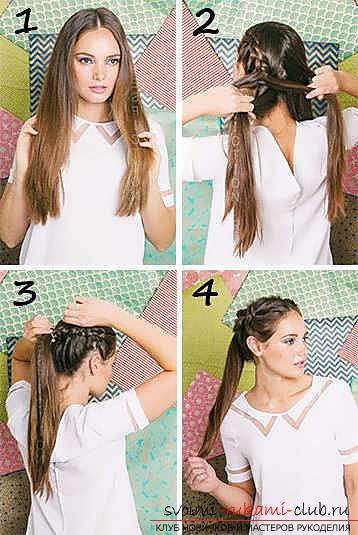 Masterclasses to create fashionable hairstyles on medium-length hair with their own hands for 5 minutes. Photo # 2