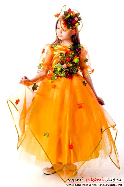 Autumn costume with your own hands. Photo №1
