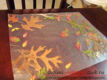 Crafts, autumn crafts that can be made from leaves, an autumn glass ball, paintings on the theme of autumn, detailed instructions and phased photos .. Photo # 5