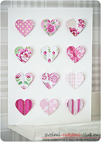 Gifts for Valentine's Day with their own hands, various variations of making valentines with their own hands, a magnet in the form of a heart as a gift to your beloved .. Photo # 12