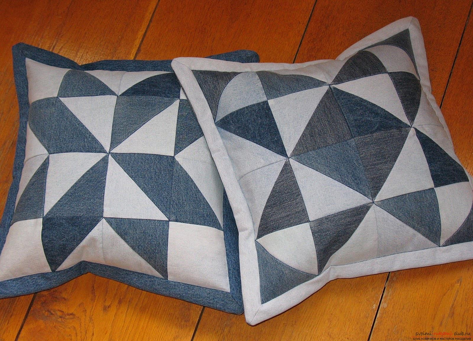 Patchwork patterns and ways of assembling when sewing from triangles. Photo №8