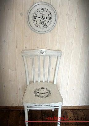Decoupage chairs in the styles of Provence, Vintage, Viennese style: for home. Photo №4