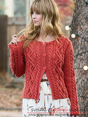 Original and comfortable clothes with knitting needles for winter - 2015. Photo №9