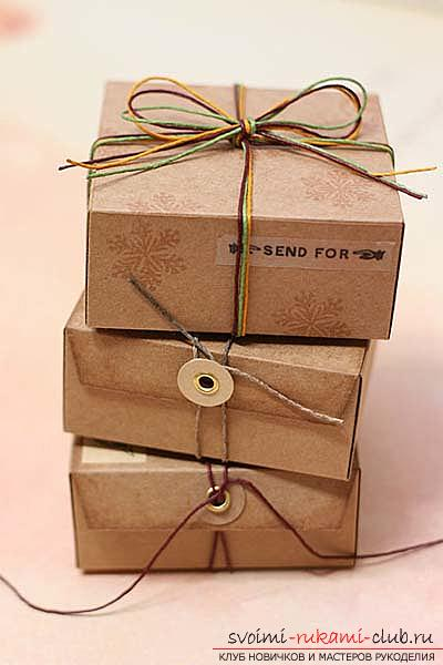 A lesson on making unusual gift wrapping for handmade soaps, tips and tricks .. Photo # 1