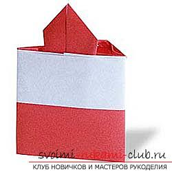 How to fold a beautiful napkin or hand-made paper in origami technique, schemes for children of 8 years .. Photo # 10