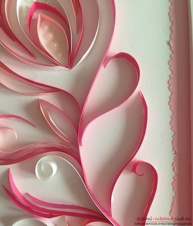 Perot with pearls - quilling pictures with photos and master class. Photo number 12
