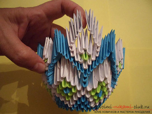 Modular origami vase for sweets. Photo №5