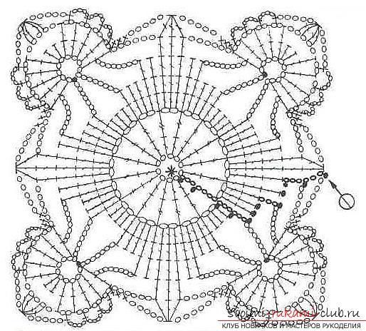How to connect an openwork square with a crochet, an image, a diagram and a description of the work .. Photo # 2