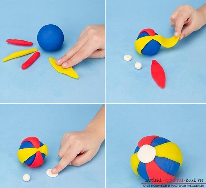 Molding of plasticine for children from 1.5 years. The initial stages of sculpting crafts from plasticine. Photo №6