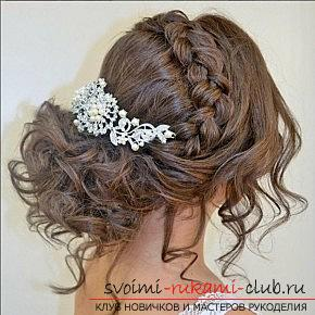 A lot of wedding hairstyles for 2016 with their own hands. Picture №10