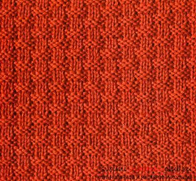 We create simple patterns with knitting needles, patterns of simple patterns and patterns with patterns. Picture №3