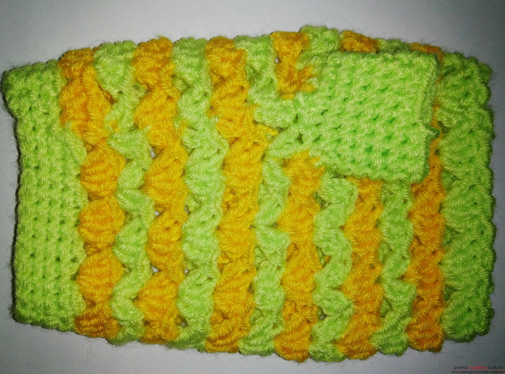 A master class with a photo and a description of the process will teach how to tie fishnet mitts crochet. Photo Number 14