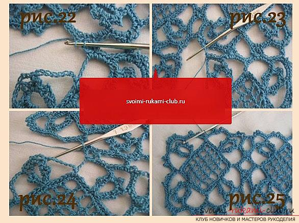 Openwork pattern for a scarf crocheted - a diagram and a description of an openwork pattern with their own hands. Photo №7