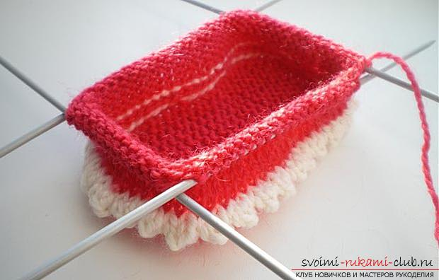Unique baby booties with knitting needles for children. Photo №4