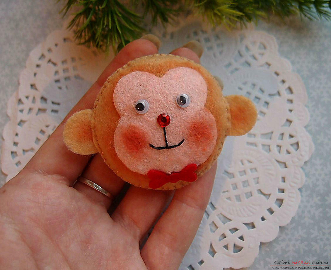This master class will teach how to make a toy out of felt - a monkey .. Photo №17