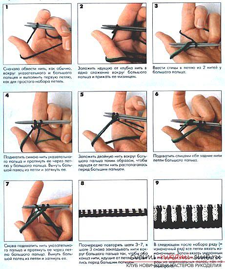 To enrich the ways of tying a loop with knitting needles is easy. Photo number 17