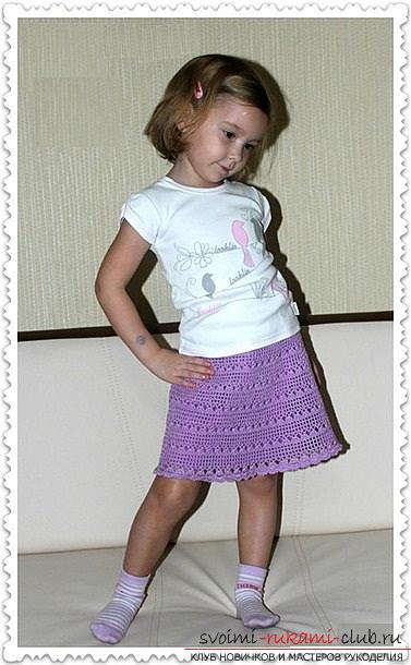 How to crochet for a girl skirt with frills in two versions and one smooth skirt. Photo №7