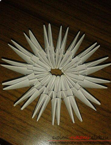 How to make a small swan out of modules. Picture №10