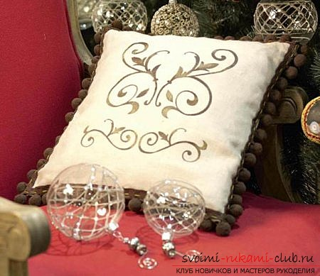 How to make a beautiful pillow decor with your own hands. Photo №1