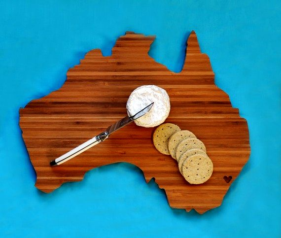 Geographic Wooden Cutting Boards - Australia