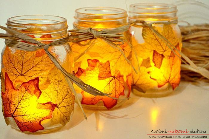 Autumn crafts with your own hands from the leaves. Picture №10