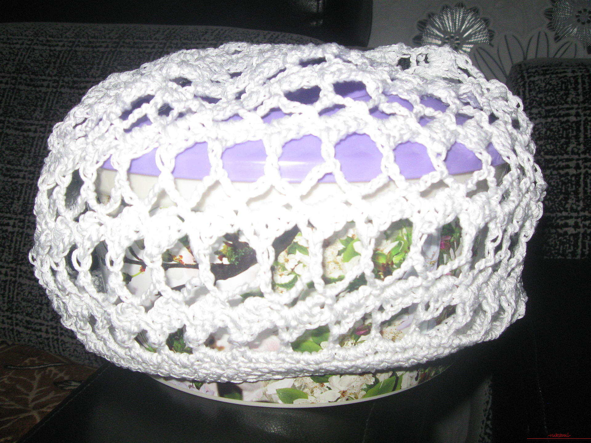 Light summer beret from the footstep. Picture №3