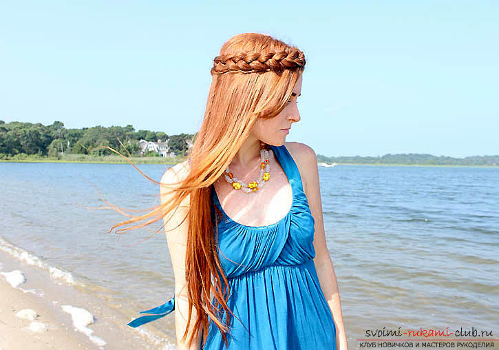 Braids for medium hair, tips and advice on braiding the spit-crown with their own hands .. Photo # 1