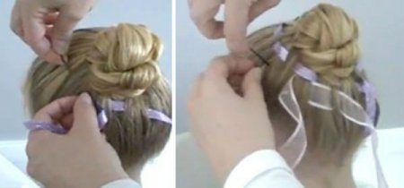 Hairstyles for September 1 for young schoolgirls for hair of different lengths are easy to do on their own. Photo №8