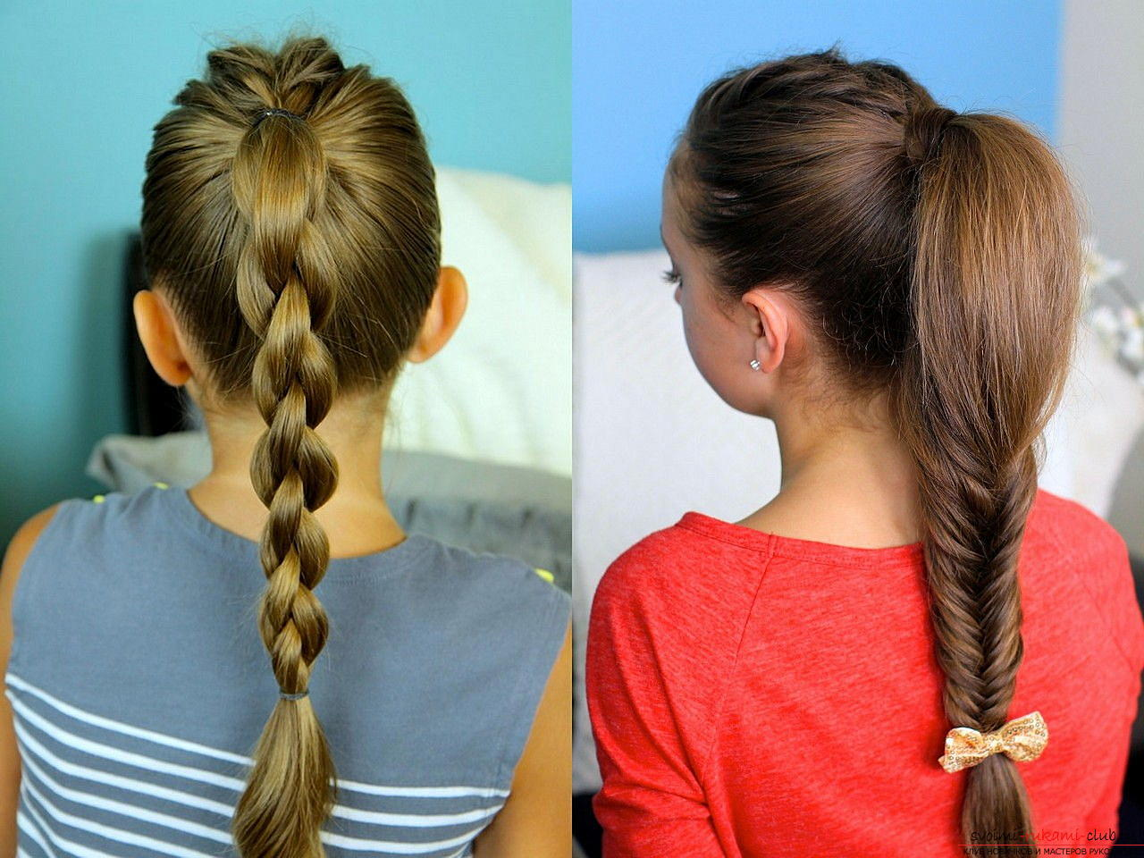Easy beautiful hairstyles for school. Photo №4