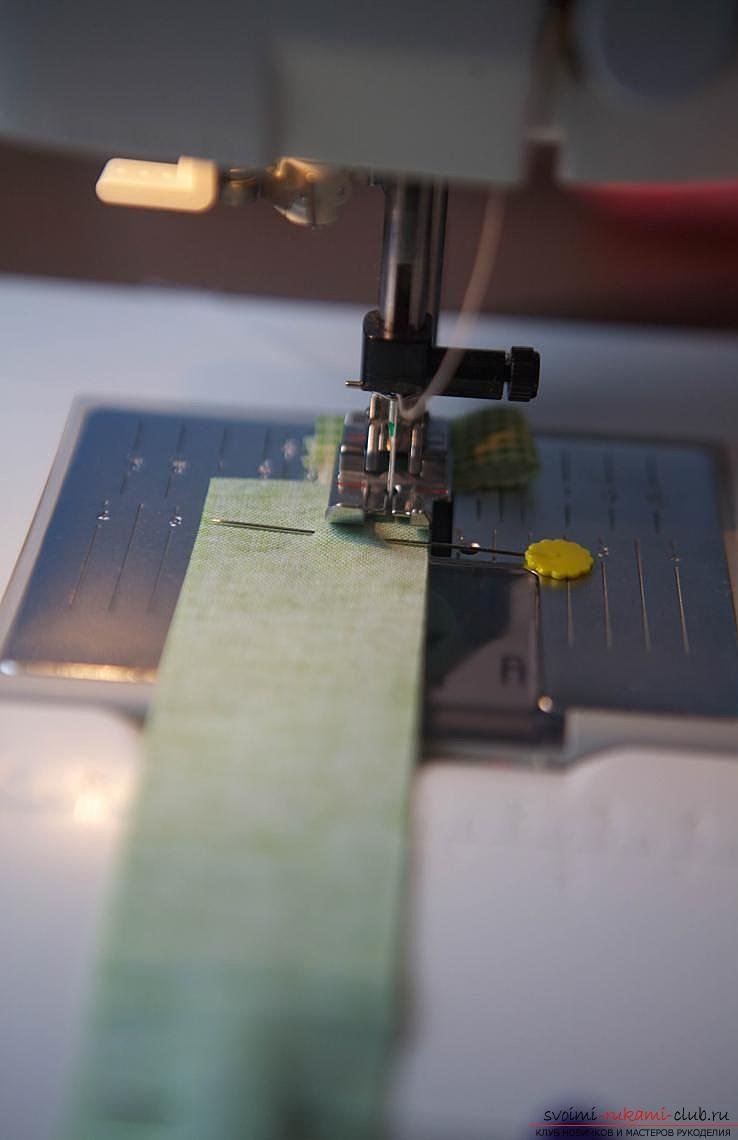 Making a Japanese bag of Omega in the style of Japanese patchwork. Photo №5