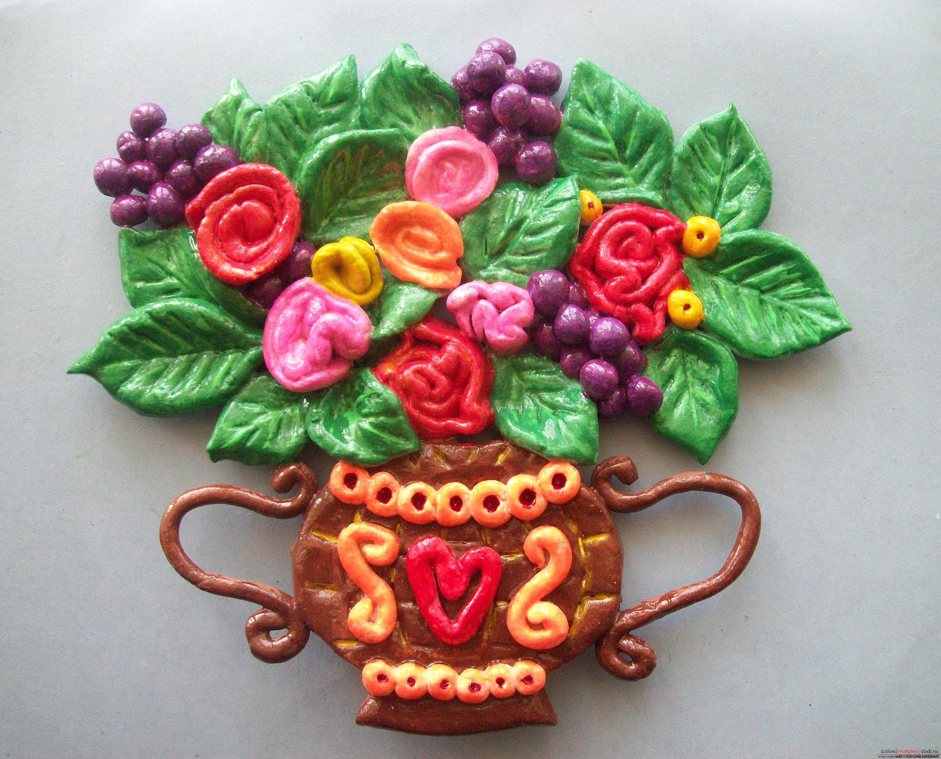 Modern methods of molding from plasticine. Flowers from plasticine with their own hands .. Photo number 1