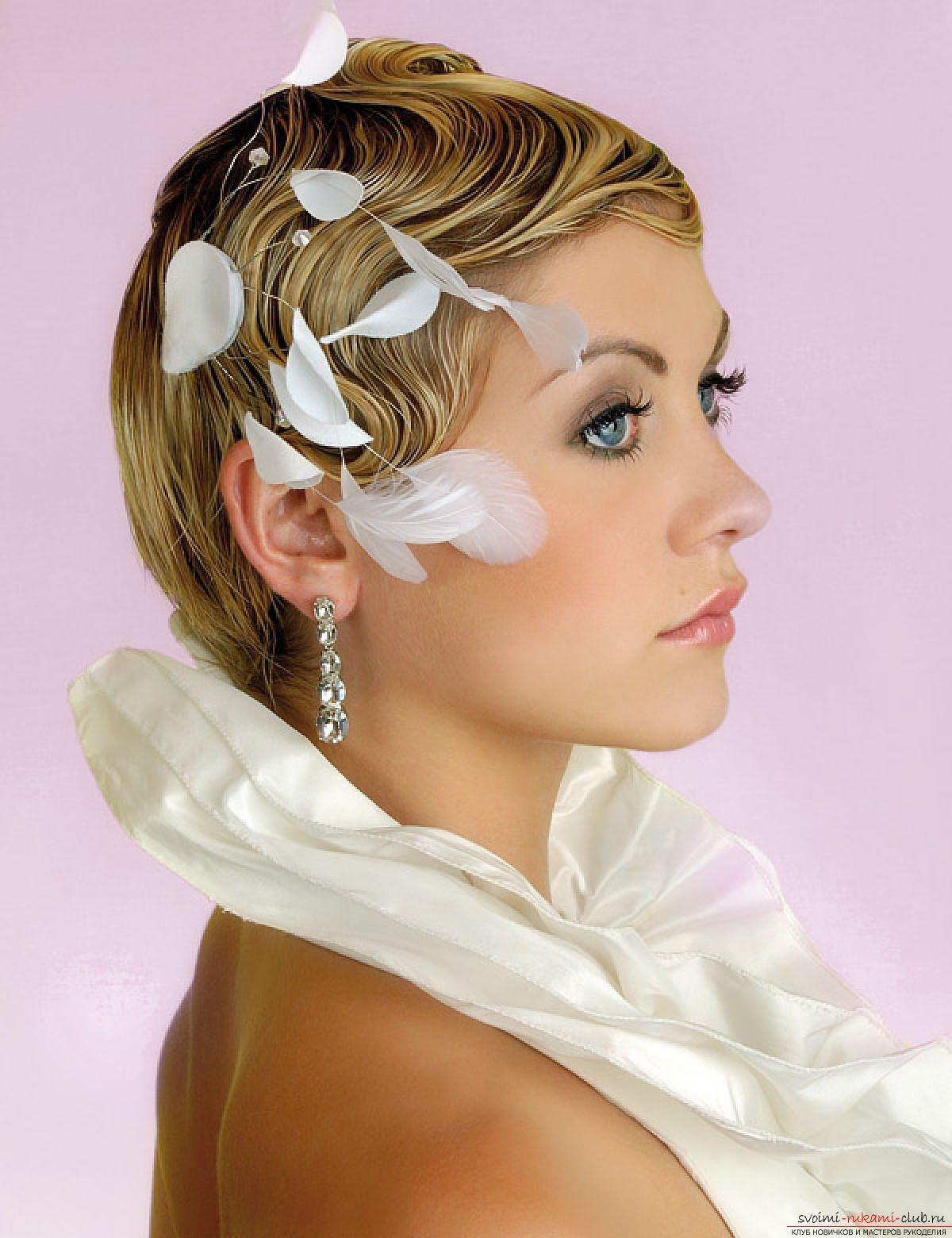 Hairstyles for brides for short hair. Photo №1