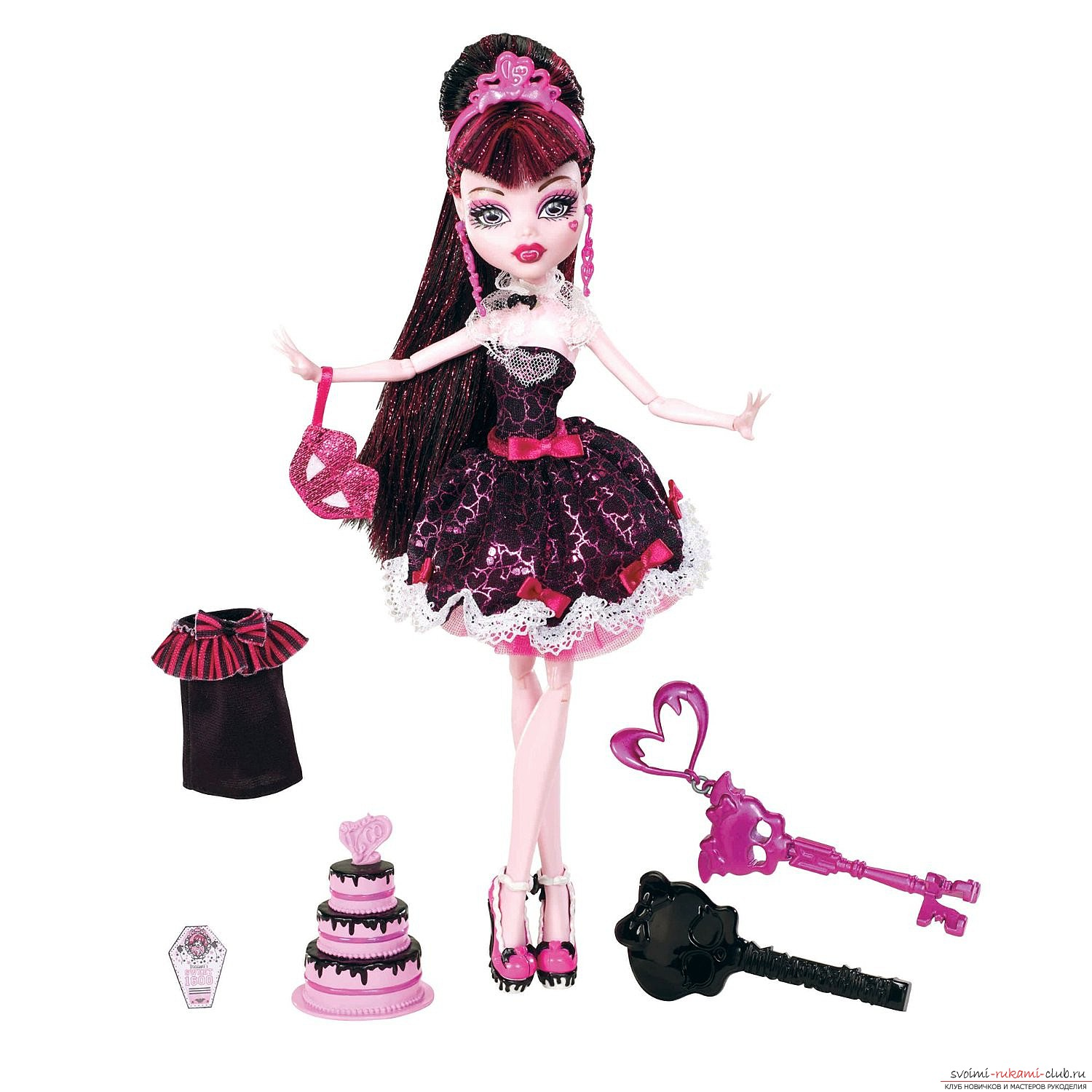 Beautiful clothes for dolls Monster High with their own hands. Photo №1