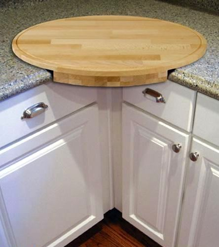 angled round cutting board