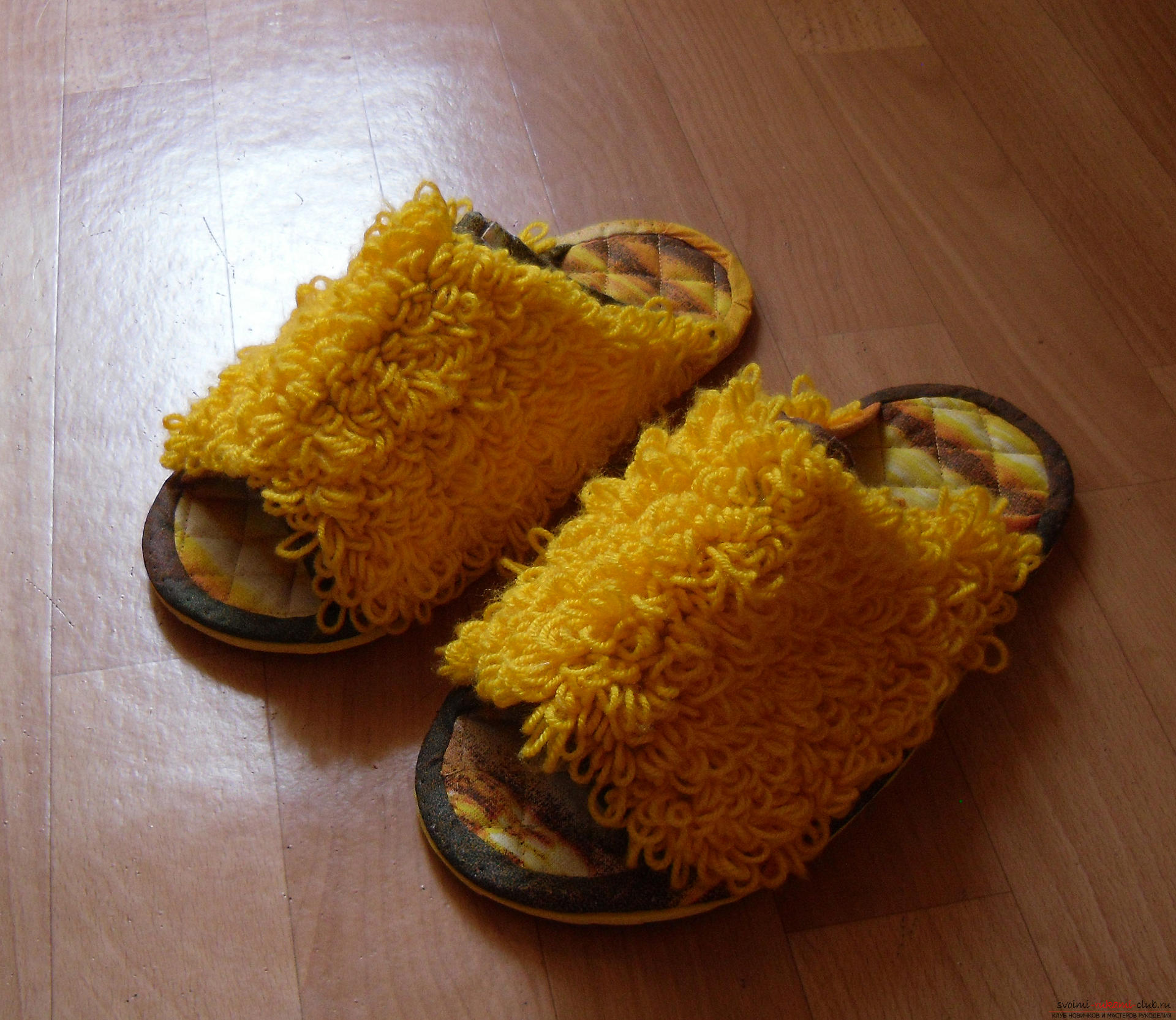 House slippers with their own hands. Photo №1