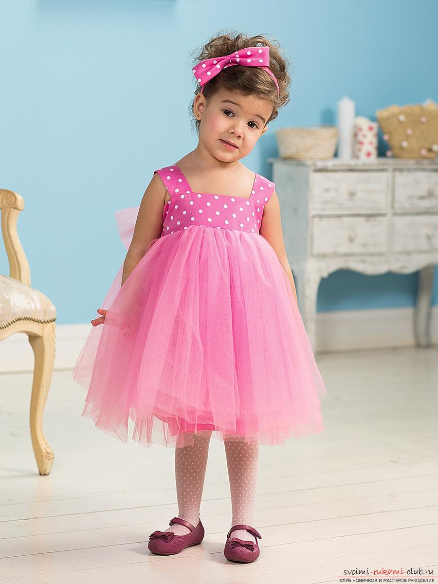 How to tie a children's summer dress for a girl? A detailed master class. Photo №4