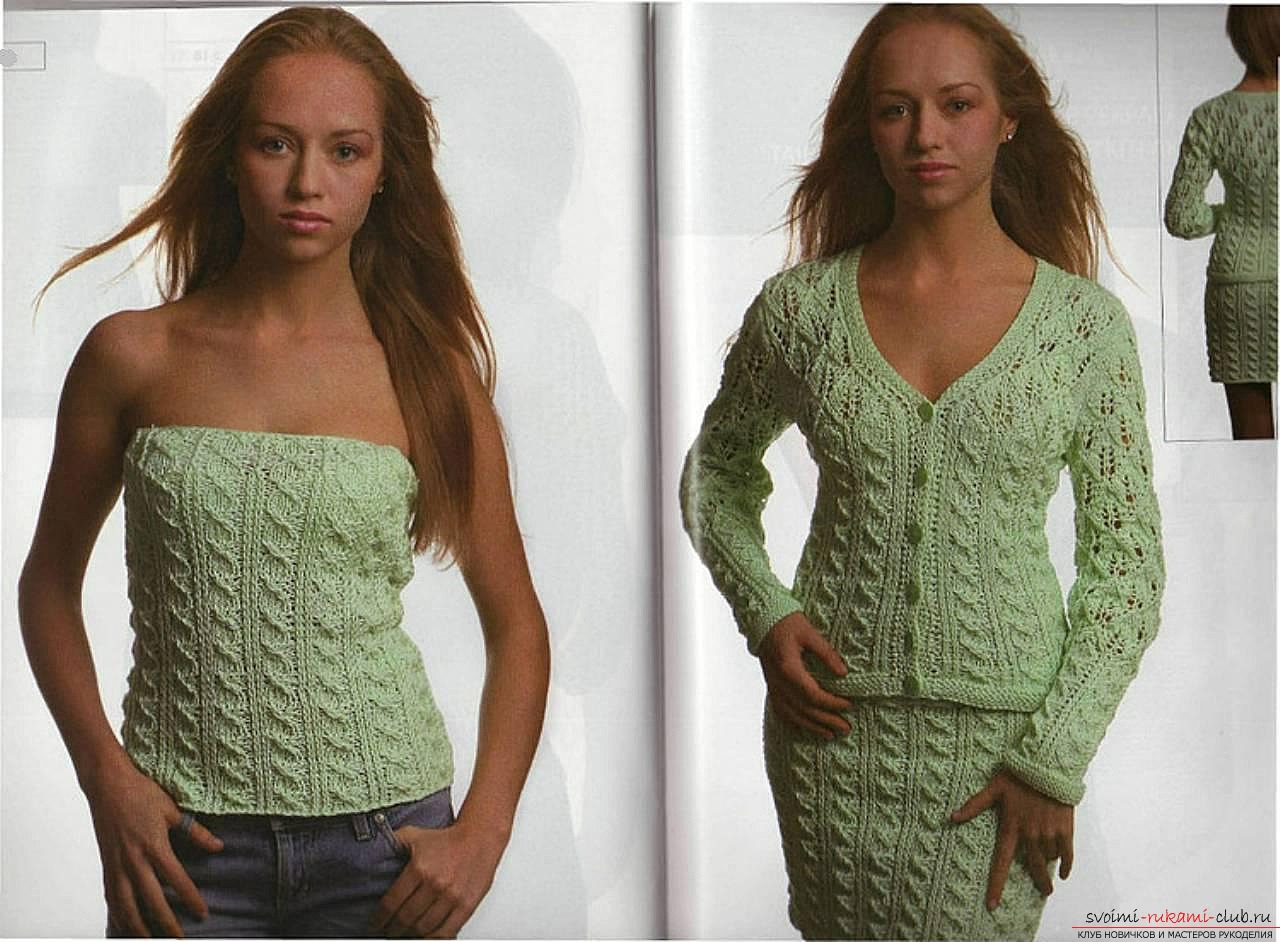 knitted with a knitting sweater of thick yarn. Photo №1
