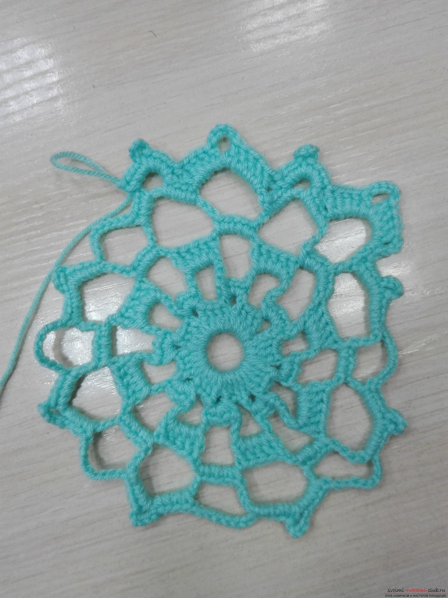 A master class on crocheting an openwork napkin will be clear even for beginners. Photo number 12