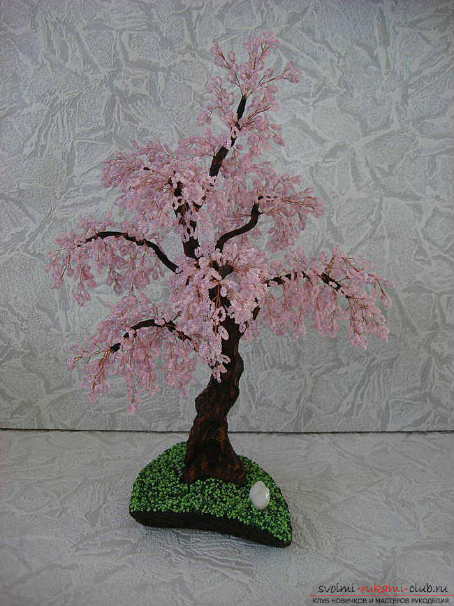 How to weave sakura from beads, detailed master classes with step-by-step photo and description .. Photo №1