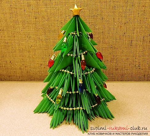 Master-class on making a tree of paper with your own hands. Photo №5