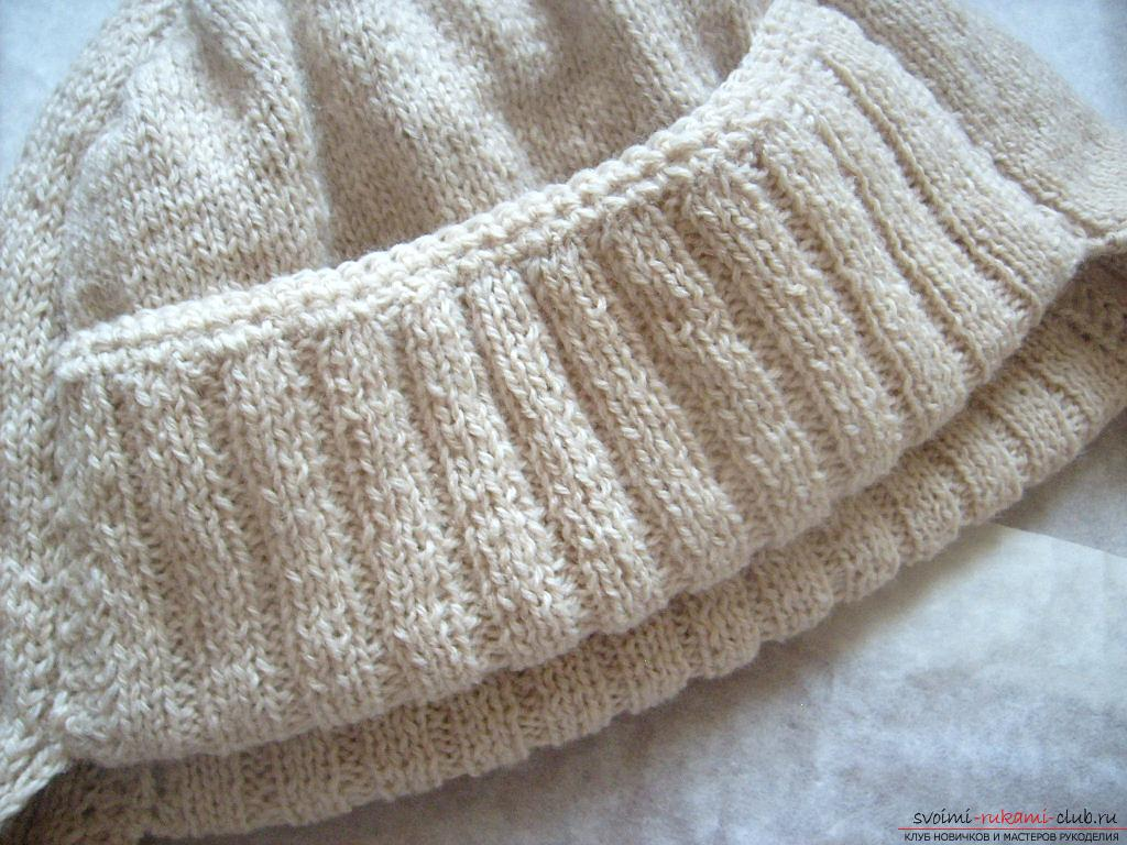 This master class with a pattern will teach how to tie a hat with ear flaps with knitting needles .. Photo # 18