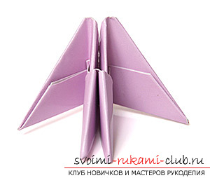 How to make an origami swan with paper. with my hands and for free .. Picture №10