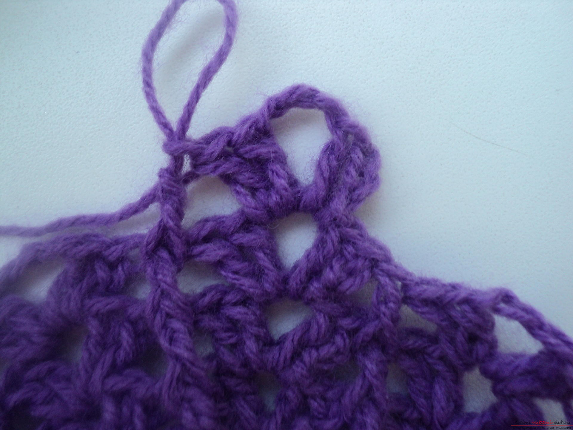 In this master class we will knit an openwork vase crochet according to the crochet pattern for beginners .. Photo # 8