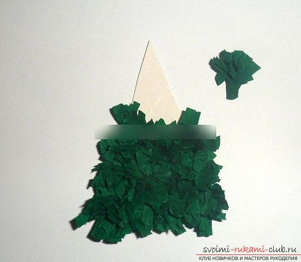 Quilling a New Year's panel with a Christmas tree - a quilling of Christmas crafts and a master class. Picture №3