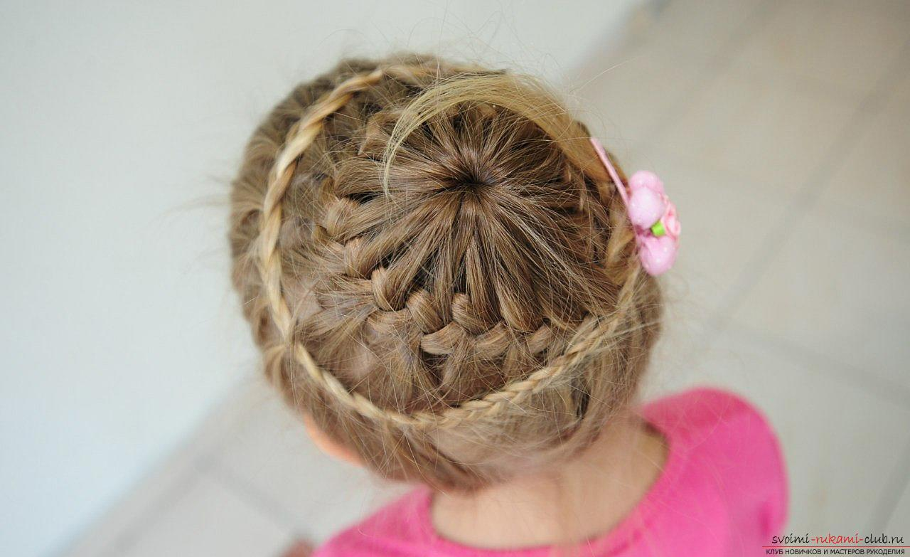 Not complicated hairstyles for little girls. Photo №4