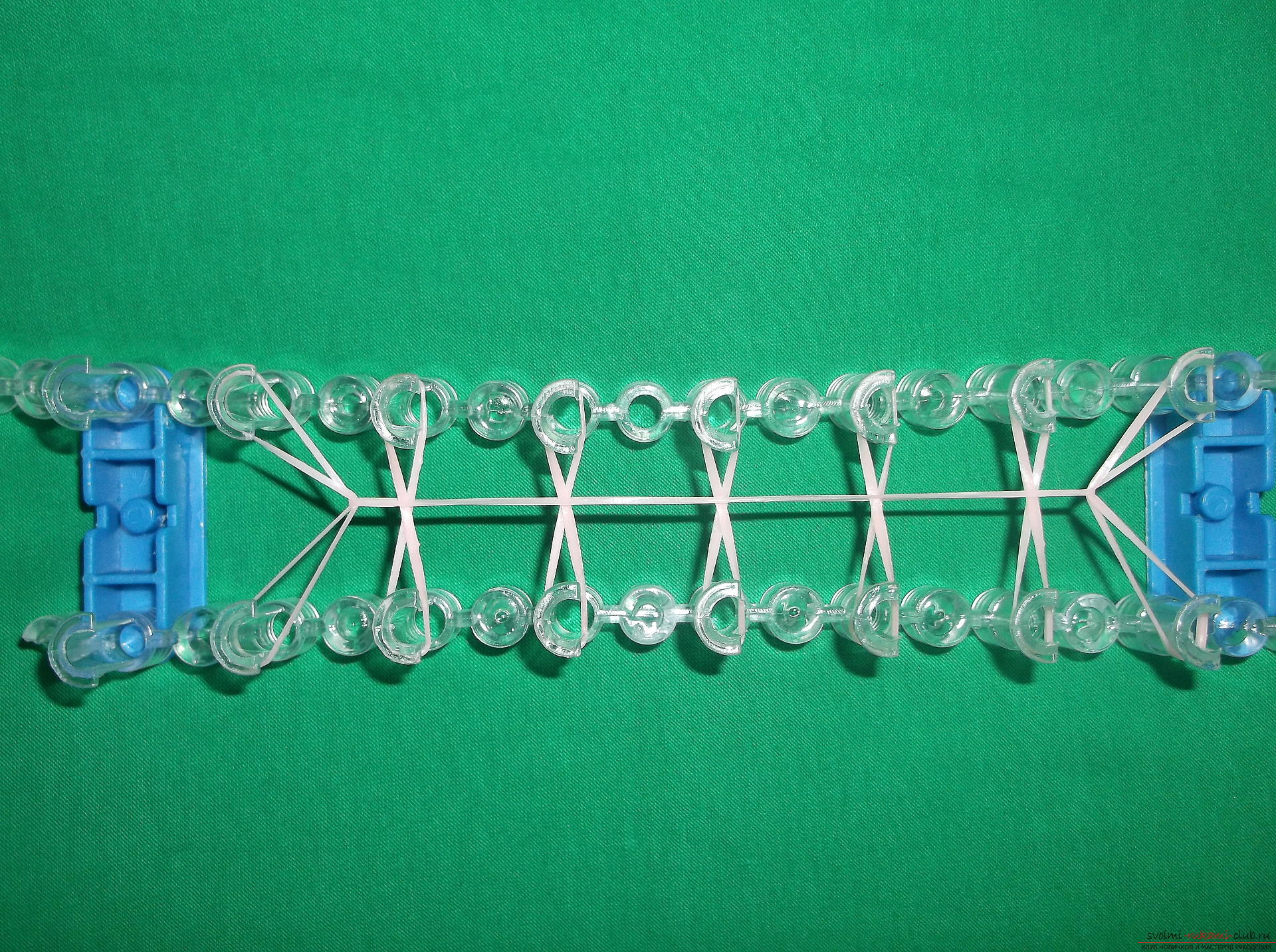 Photo for a lesson on weaving a bracelet with an inscription